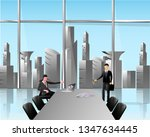 business meeting room   the...   Shutterstock .eps vector #1347634445