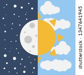 vector illustration day and... | Shutterstock .eps vector #1347641945