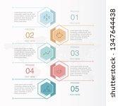 basic color infographic hexagon ...   Shutterstock .eps vector #1347644438