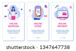 three banners for phone  online ...   Shutterstock .eps vector #1347647738