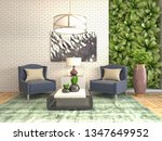interior with chair. 3d... | Shutterstock . vector #1347649952