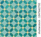 seamless watercolour teal...   Shutterstock . vector #1347662732