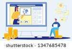 webinar  live conference flat...   Shutterstock .eps vector #1347685478