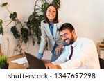 young and successful business...   Shutterstock . vector #1347697298