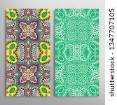 vertical seamless patterns set  ... | Shutterstock .eps vector #1347707105