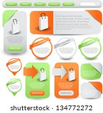 web designing element set | Shutterstock .eps vector #134772272