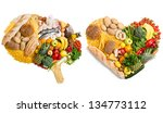 food in a shape of a brain and... | Shutterstock . vector #134773112