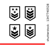 military rank icon set in flat...   Shutterstock .eps vector #1347740528