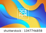 wavy geometric background.... | Shutterstock .eps vector #1347746858
