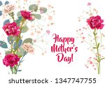 horizontal mother's day card...   Shutterstock .eps vector #1347747755
