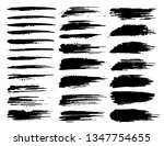 set of brush strokes  black ink ... | Shutterstock .eps vector #1347754655