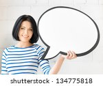 picture of smiling student with ... | Shutterstock . vector #134775818