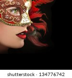 close up portrait of woman in... | Shutterstock . vector #134776742