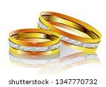 wedding rings on white... | Shutterstock .eps vector #1347770732