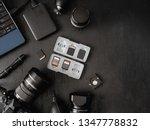 top view of work space... | Shutterstock . vector #1347778832