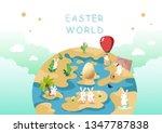 easter world  egg hunt ... | Shutterstock .eps vector #1347787838