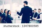 ceo speaks at the workshop... | Shutterstock . vector #1347803585