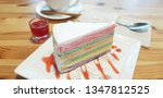 colorful crepe cake with... | Shutterstock . vector #1347812525