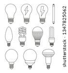 11 line art black white light... | Shutterstock .eps vector #1347825062