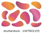 abstract liquid gradient shapes.... | Shutterstock .eps vector #1347831155