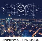 smart city concept with aerial... | Shutterstock . vector #1347836858