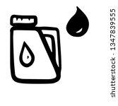 car service doodles oil icon.... | Shutterstock .eps vector #1347839555