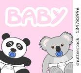 baby toy | Shutterstock .eps vector #134783996