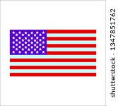 vector image of american flag | Shutterstock .eps vector #1347851762