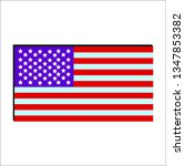 vector image of american flag | Shutterstock .eps vector #1347853382