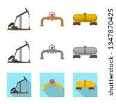 vector illustration of oil and... | Shutterstock .eps vector #1347870425