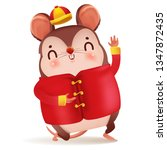 Cartoon Rat Personality. Red...