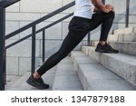 young man stretching on the... | Shutterstock . vector #1347879188