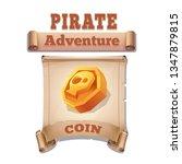 cute cartoon icon golden coin...
