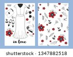 vintage fashion clothes hand...   Shutterstock .eps vector #1347882518