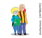 camping pensioners vector   Shutterstock .eps vector #1347882992