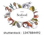 set of shrimps. hand drawn...   Shutterstock .eps vector #1347884492
