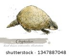 ice age wildlife. prehistoric... | Shutterstock . vector #1347887048