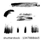 vector brush strokes grunge... | Shutterstock .eps vector #1347888665