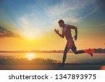 Silhouette Of Man Running...