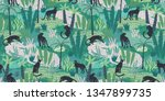 vestor seamless pattern with... | Shutterstock .eps vector #1347899735