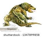 ice age wildlife. prehistoric... | Shutterstock . vector #1347899858