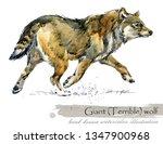 ice age wildlife. prehistoric... | Shutterstock . vector #1347900968