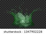 translucent water crown with... | Shutterstock .eps vector #1347902228