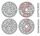 illustration of maze labyrinth ... | Shutterstock . vector #1347913055