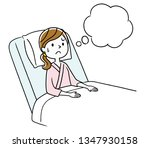 young woman thinking about... | Shutterstock .eps vector #1347930158