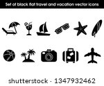 set of black flat travel and...