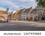 street view of Mulhouse, a city in the Alsace region in France