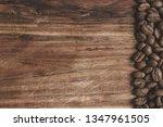 coffee beans arranged on a... | Shutterstock . vector #1347961505