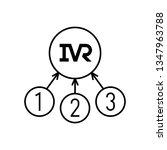 ivr icon. interactive voice... | Shutterstock .eps vector #1347963788