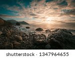 coastal landscape. rocks  ...   Shutterstock . vector #1347964655